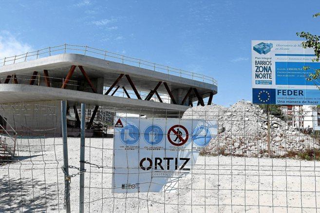 Obras sin concluir del Observatorio de Medio Ambiente, imagen de...