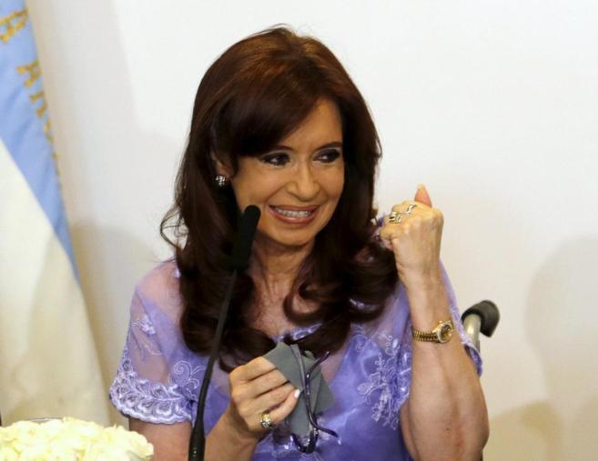 Cristina Fernández de Kirchner, presidenta de Argentina, en la Casa...