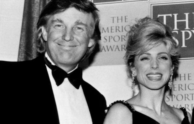 Trump, con su segunda mujer y antigua amante, Marla Maples.