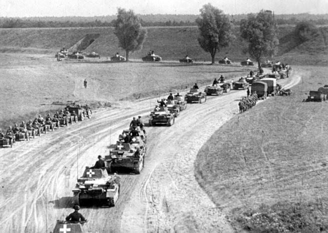 Tanques alemanes hacen su entrada en Polonia.