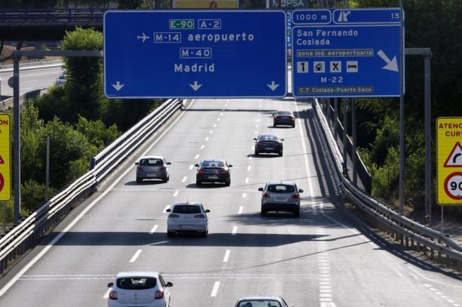 Una autopista en la Comunidad de Madrid