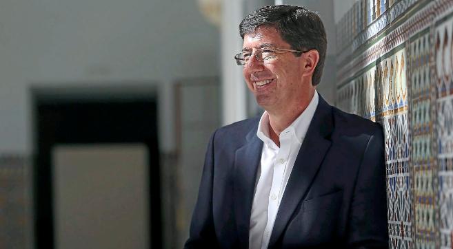 El portavoz de Ciudadanos en el Parlamento, Juan Marín, en una...