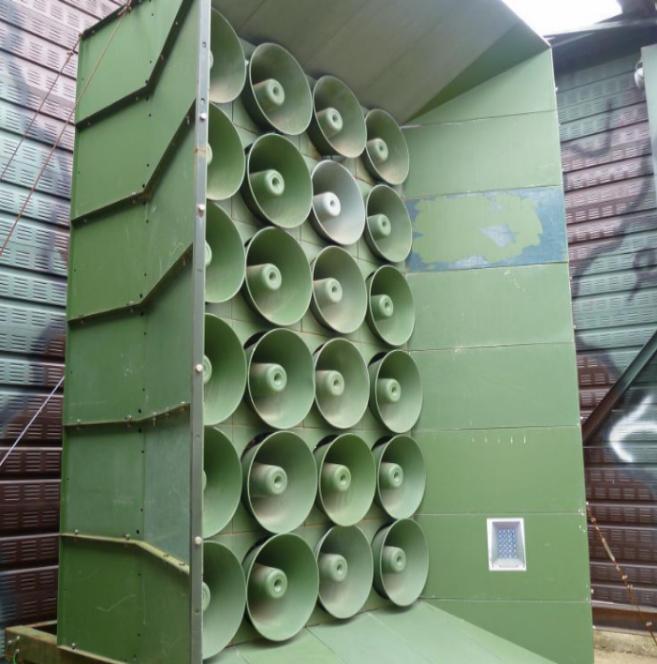Los altavoces surcoreanos instalados en la frontera con Corea del...
