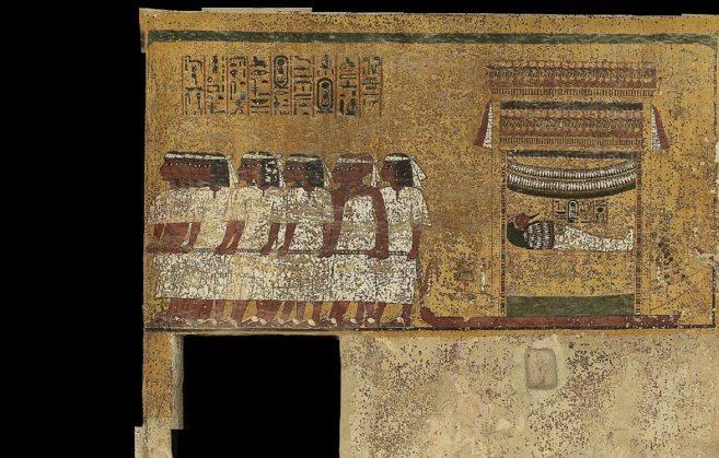 Algunas de las pinturas que decoran la tumba de Tutankamón.