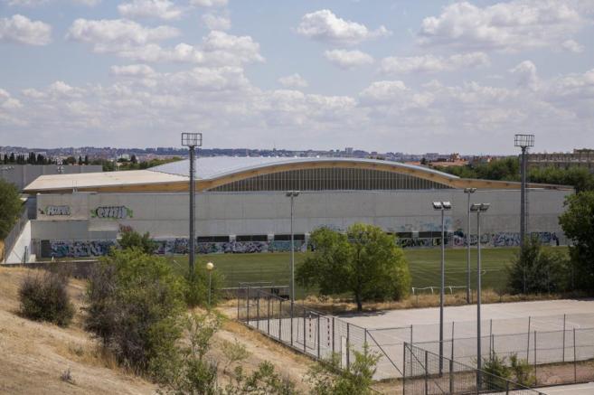 Polideportivo Gallur, en el distrito de Latina.