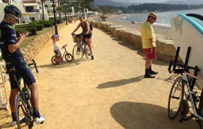 Imagen del lugar por donde trascurre la primera etapa de la Vuelta a...
