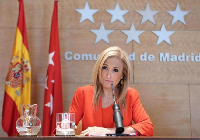 Cristina Cifuentes, durante una rueda de prensa este miércoles.