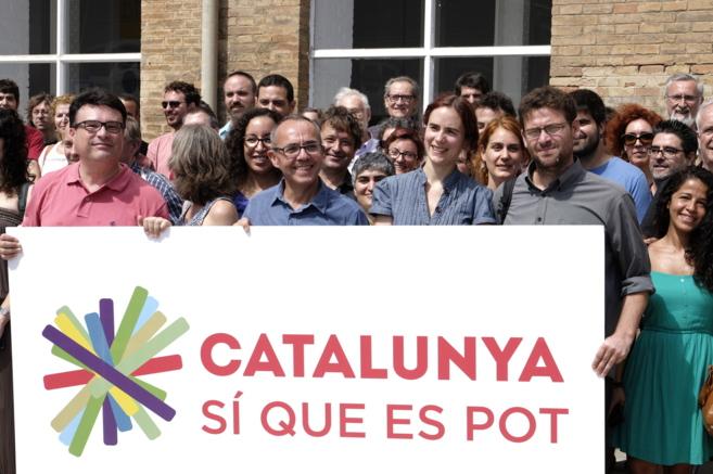 Miembros de la candidatura de 'Catalunya sí que es pot' en...