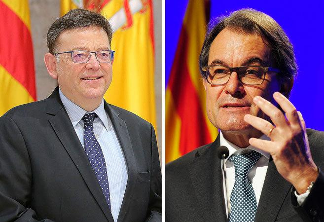 El presidente de la Generalitat Valenciana, Ximo Puig, y el de la...