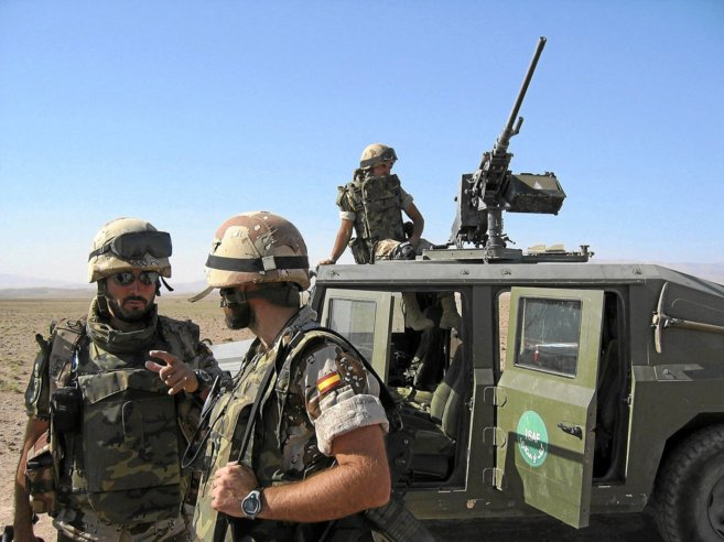 Soldados españoles destinados en la base de Herat (Afganistán).