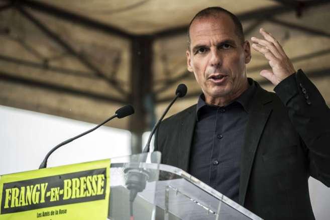 El economista Yanis Varoufakis durante un evento el domingo en...