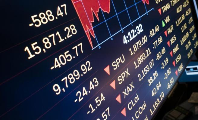 Vista del tablero de la Bolsa de Nueva York el lunes.
