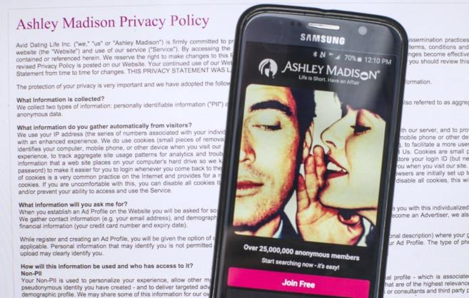 Política de privacidad de Ashley Madison.
