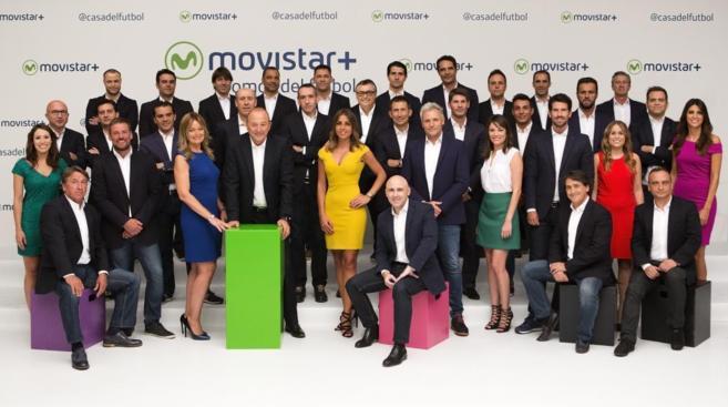 El equipo de fútbol de Movistar+.