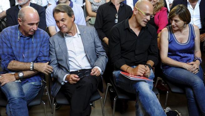Primera reunión de la candidatura de Junts Pel Sí