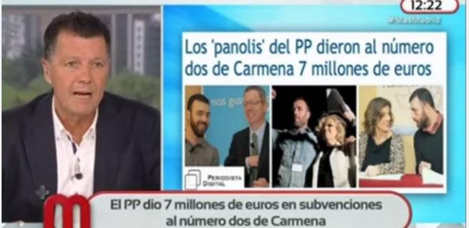 Alfonso Rojo en un momento del programa 'Más Madrid', en Telemadrid
