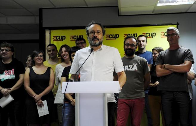 Antonio Baños, candidato de la CUP al 27-S