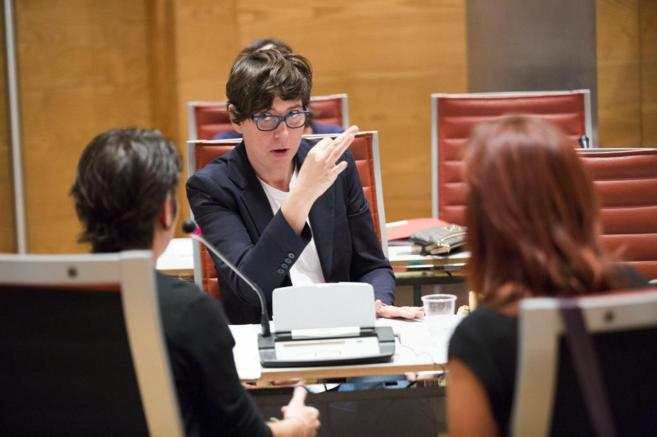 La senadora por Podemos Pilar Lima interviene en la Comision...