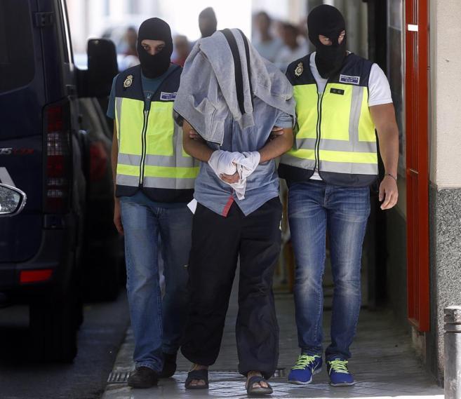 Abdeladim Achriaa, durante su detención en San Martín de la Vega...