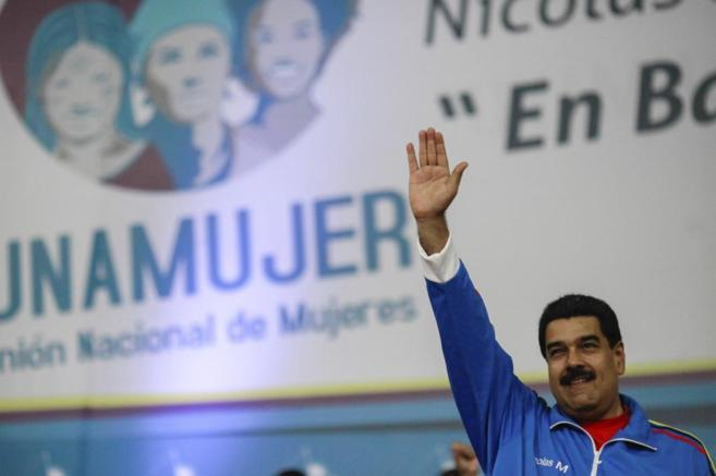 Nicolás Maduro durante un encuentro de la Unión Nacional de Mujeres...