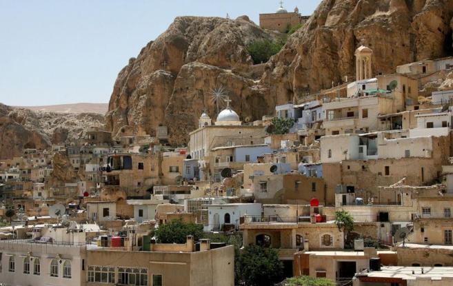 Imagen de la ciudad siria de Maalula, Patrimonio de la Humanidad.