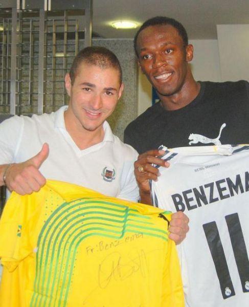Usain Bolt y Karim Benzema, en una imagen de 2009.