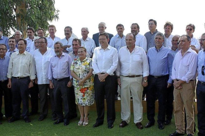 Puig ayer con los empresarios en la jornada organizada por el...