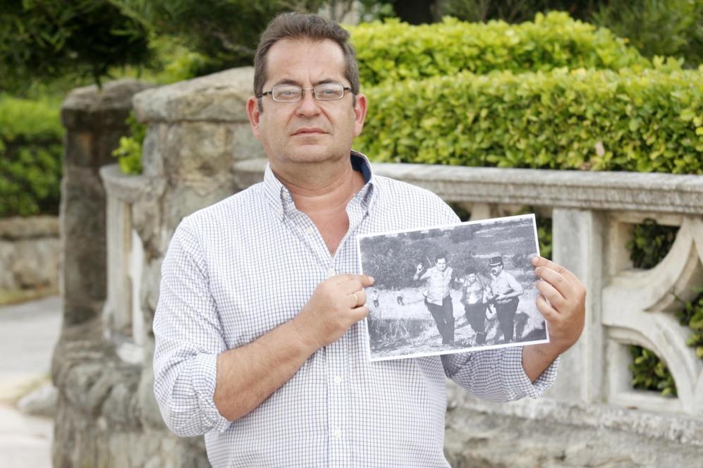 Brígido Fernández, de 52 años, autor de la histórica imagen.