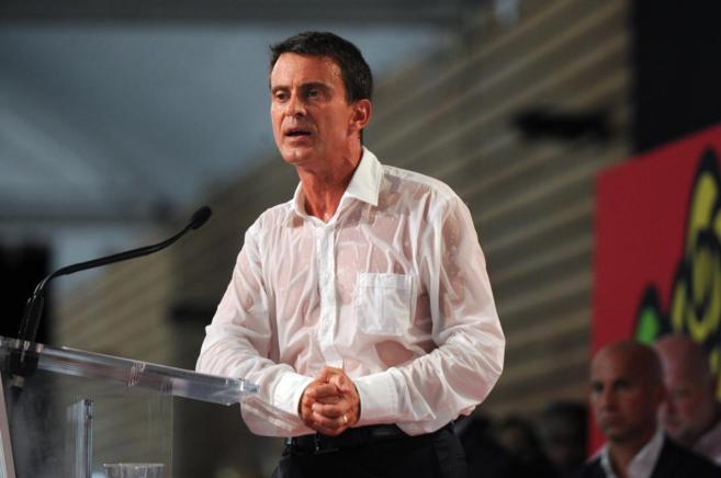 El primer ministro francés, Manuel Valls, en la clausura de la...