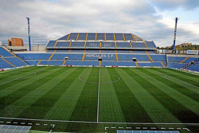 Panorámica del estadio Rico Pérez, donde disputa sus partidos el...