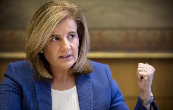 La ministra de Empleo y Seguridad Social, Fatima Bañez.