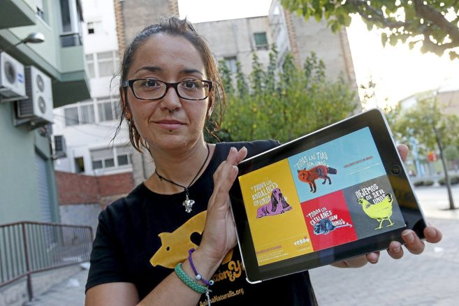 Laura Jiménez, una de las organizadoras del encuentro Vegan Fest, con...