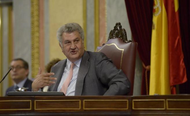 El presidente del Congreso, Jesús Posada en un pleno del Congreso de...