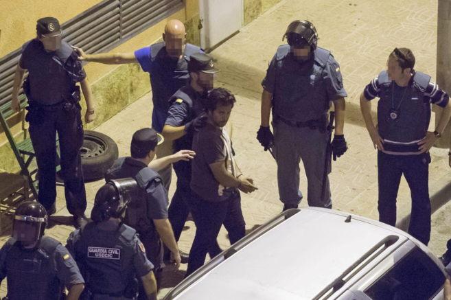 Una de las detenciones llevada a cabo por la Guardia Civil esta...
