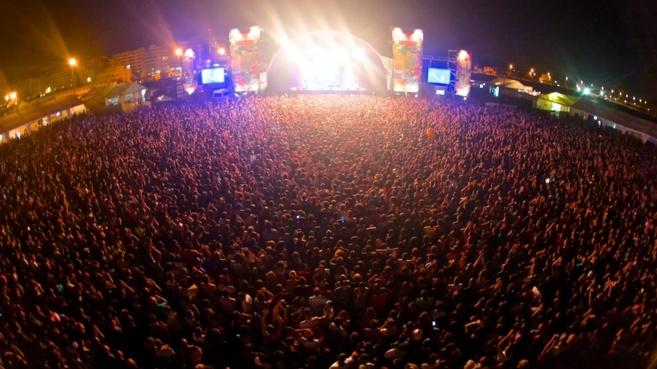 Uno de los conciertos celebrados en el recinto del Arenal Sound.