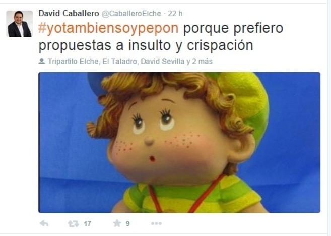 David Caballero, a quien la concejal Cristina Martínez llamó...