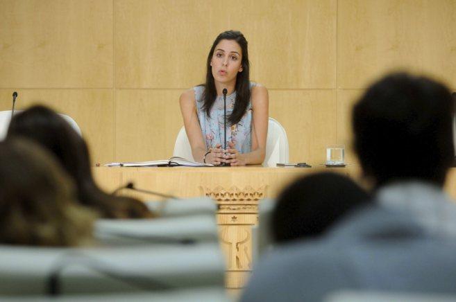 Rita Maestre, portavoz del Ayuntamiento de Madrid, en la rueda de...