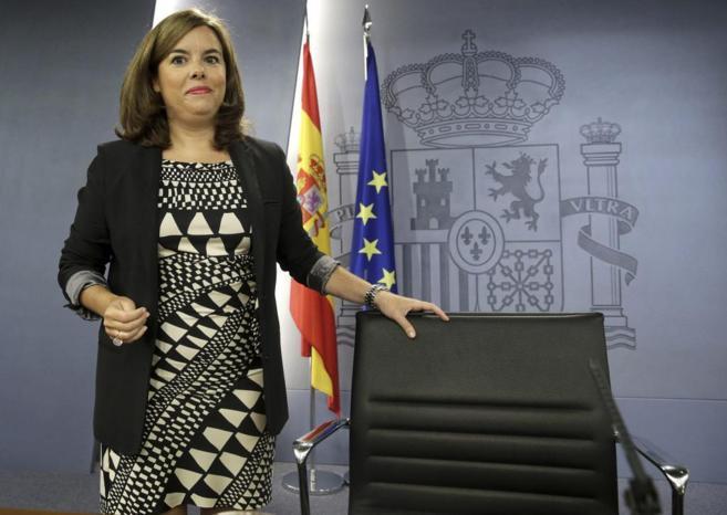 La vicepresidenta Soraya Sáenz de Santamaría en el Consejo de...