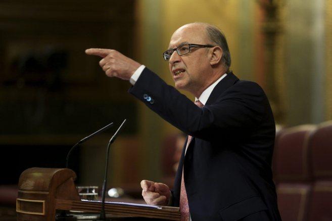 El ministro Cristóbal Montoro en el Congreso de los Diputados el...