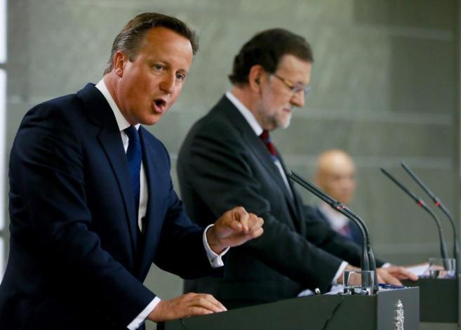 David Cameron, en la rueda de prensa celebrada en Moncloa.