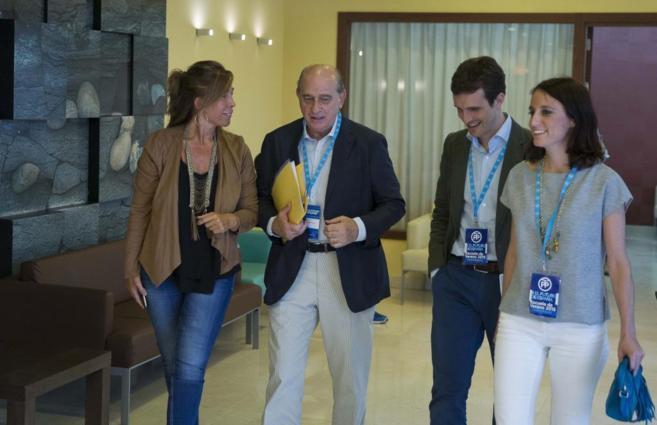 Sánchez Camacho, Fernández Díaz, Casado y Levy, ayer en Lloret de...