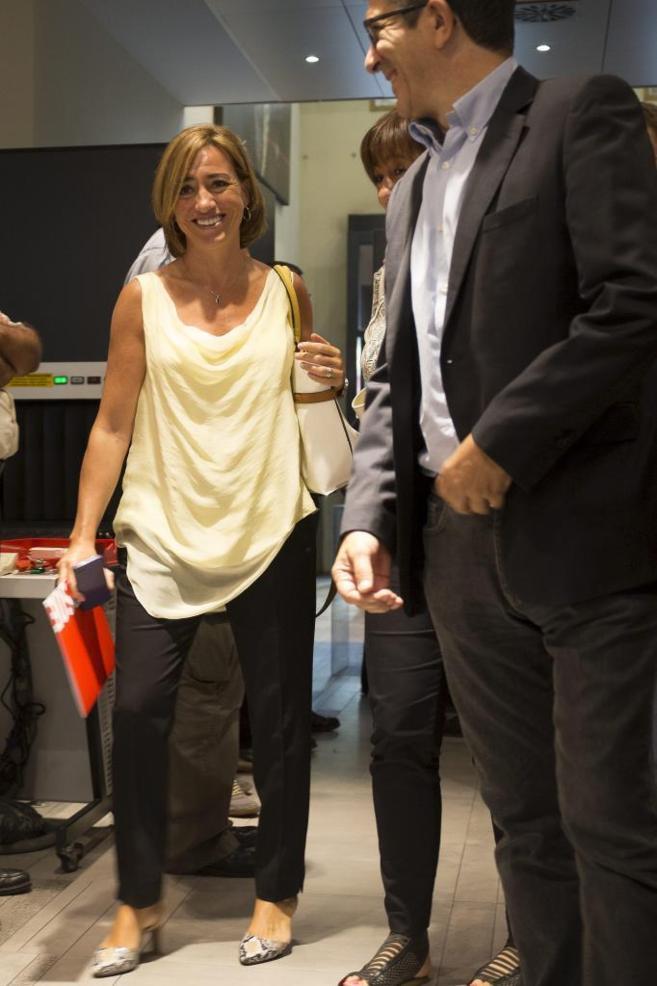 Carme Chacón a su entrada al Comité Federal del PSOE.