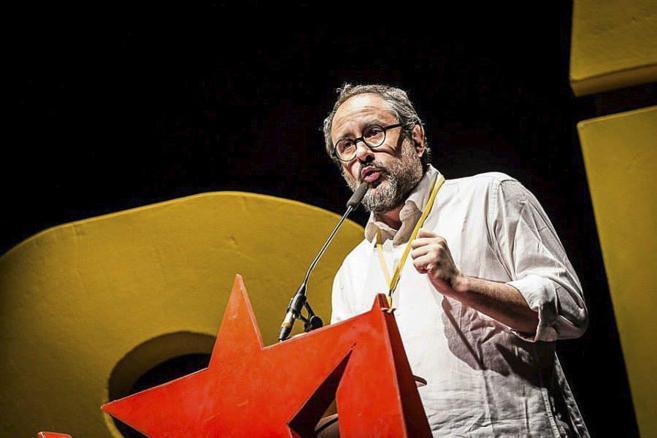 Antonio Baños, en un acto de campaña
