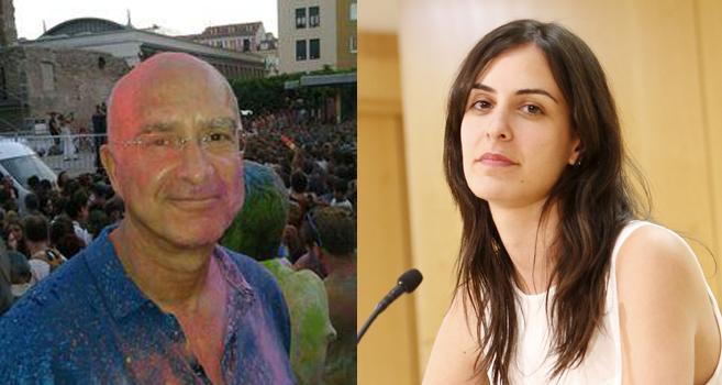 A la derecha, Luis Maestre; a la izquierda, su hija Rita Maestre.