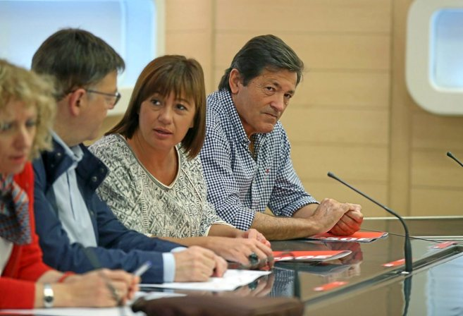 Los presidentes de Asturias, Javier Fernández; Baleares, Francina...
