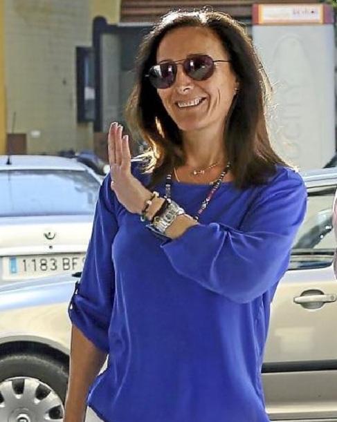 La juez Núñez Bolaños llegando a los juzgados a finales de julio.