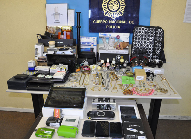 Imagen del material recuperado por la Policía.