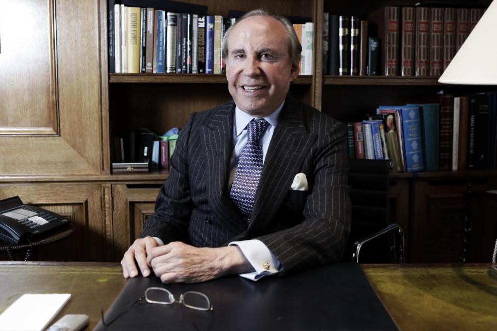 Ruiz-Mateos en su despacho en 2009.