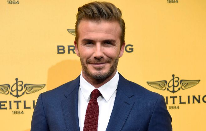 David Beckham durante un evento celebrado en Madrid.
