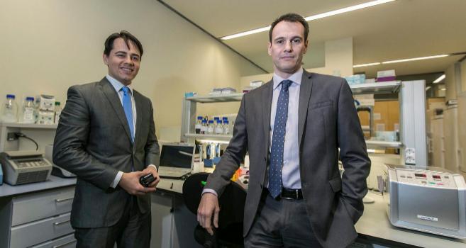 Miquel Àngel Bonachera y Sergi Audivert, fundadores de AB-Biotics.